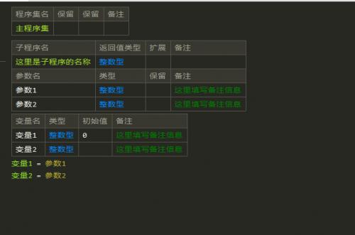 [开源]易语言表格代码编辑框